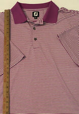 FootJoy FJ Purple Striped Polo Golf Shirt XXL