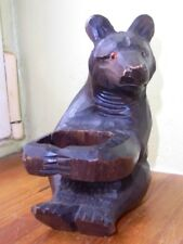 allemagne  Antique Hand Carved Black Forest bear. ours foret noir  germany