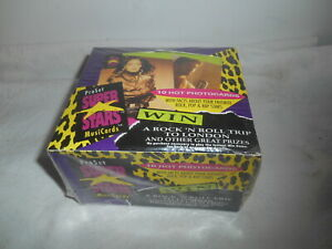 1991 ProSet Super Stars MusiCards First Series Trading Cards Factory Sealed Box.
