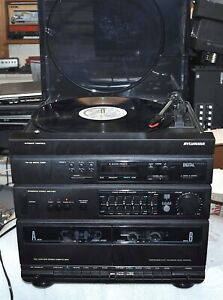 SYLVANIA ALL IN ONE STEREO MUSIC SYSTEM MODEL SY 3157 BK01 COMMERCIAL SURPLUS
