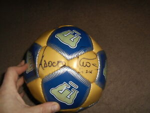 Mexico Pumas signed autographed Soccer Ball 4 Players Adolfo Rios (1999 champ)