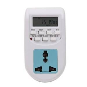 10A 220-240V Timer Switch Socket LCD Digital Display Time Control Switch EU Plug