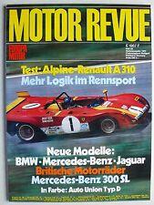 Zeitschrift Motor Revue Heft 83 Herbst 1972 mit Alpine A310 Test, Jaguar XJ 12