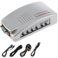 PC Laptop VGA to AV RCA TV Monitor S-video Signal Adapter Converter Switch Jð Jð
