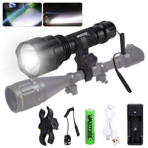 Brightest T6 LED Camping Flashlight Police Tactical Torch Rechargeable