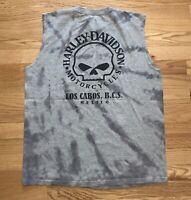 Vintage Harley Davidson Bike T Shirt Size L Cabo San Lucas Tie Dye One Of A Kind