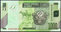 2005 CONGO 1000 FRANCS BANKNOTE * Q 4374915 A * UNC * P-101a *