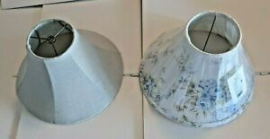 Shabby Chic Rachel Ashwell Blue Rose & Couture Light Blue Lampshade Lot
