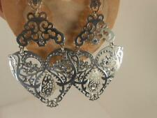 BRIGHTON BEAUTIFUL LASER CUT EARRINGS  NEW WITH TAG  abbott HEART/OWL $78