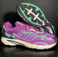 ADIDAS TEMPER RUN Shock Purple / Teal / Aqua NEW Men's size 13 JOGGER - TRAINER