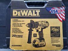 "DEWALT DCD985M2 20V MAX Cordless 1/2"" Premium 3-Speed Hammer Drill Kit"
