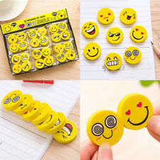4pcs Emoji Eraser Smiley Cute Face Kids Children Stationery School Rubber
