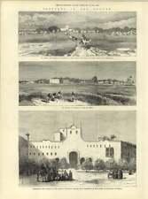 1883 il SUDAN SCHIZZI EL obeid ABU habas KORDOFAN Khartoum