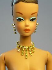 Barbie Repro Vintage FR Handmade Necklace Earrings Rhinestone Jewelry NE100024