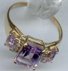 bague or améthyste  et diamants