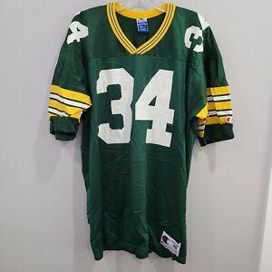 Vintage 90s Champion NFL Green Bay Packers Edgar Bennett 34 Jersey Mens 48