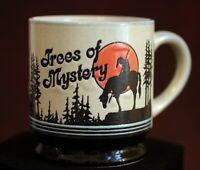 Stoneware Coffee Mug Trees of Mystery End of Trail Redwood Highway Klamath Calif