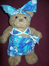 """BUILD A BEAR WEARING 3-PC SWIMSUIT SUMMER OUTFIT - 16"""" TALL  VERY GOOD CONDITION"""