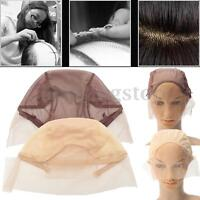 Lace Front Wig Cap for Wig Making Weave Cap Elastic Hair Net Adjustable Straps