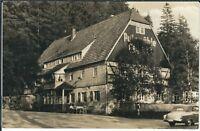 """Ansichtskarte HO Gaststätte """"Putzmühle"""" in Bärenfels/Erzgebirge - schwarz/weiß"""