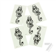 5Pcs Harry Potter Death Eaters Dark Mark Tattoos for Cosplay