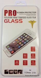 100% GENUINE TEMPERED GLASS SCREEN PROTECTOR PROTECTION FOR APPLE iPHONE 6