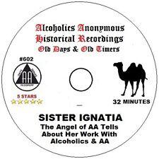 Alcoholics Anonymous AA 12 Step Speaker CD - Sister Ignatia, Angel of AA