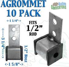 "AGROMMETx10 Exhaust Rubber Hanger Grommet Insulator Bracket Southern J Hook 1/2"""