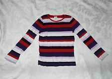 Girl's GYMBOREE PURPLE RED STRIPES LONG SLEEVE Shirt, Basic Striped Top, Size 7