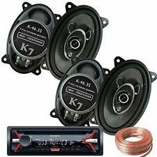 """Sony Cdx-G1150U Receiver + 2 Pairs K7 K-46.3S 4x6"""" 180W 3-Way Car Speakers +Wire"""