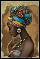 African Girl - Chart Counted Cross Stitch Patterns Needlework DIY DMC