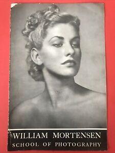 WILLIAM MORTENSEN School Of Photography Promo Booklet 1950's SC 1st Ed RARE