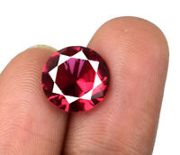 Natural Untreated 3.30 Ct Round Burma Red Ruby Loose Gemstone AGSL Certified