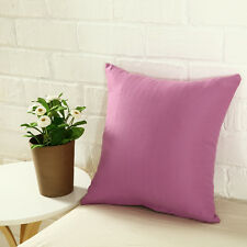 Plain Solid Throw Home Decor Pillow Case Bed Sofa Waist Cushion Cover Multicolor