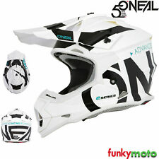 Oneal 2 series Rl Slick Motocross Adulto Mx Atv Quad Enduro Casco De Bicicleta Blanco