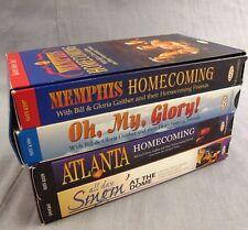 Gaither Gospel Series VHS Lot of 4 Videos Atlanta Homecoming Memphis Oh My Glory