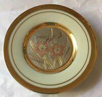 ART of CHOKIN Gold Gilded Hummingbird Pin Dish Japanese Decorative 10cm