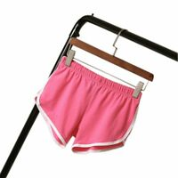 Women Sport Execise Short Pants Elastic Waist Casual Running Loose Soft Trousers