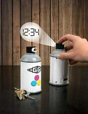Spray Paint Can-Projection Wall Clock- Digital Time Graffiti-byGamaGo
