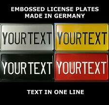 US USA License Plate USA Number Plate Alu Embossed Custom Personalized