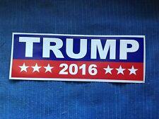 "Stk#10 *Trump 2016* Bumper Sticker, Red, White, & Blue 3""x9"", Free fast shipping"
