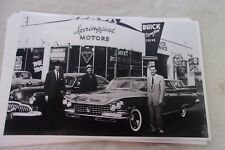 NEW 1959 BUICK IN FRONT OF DEALER COMPARE TO 1949   11 X 17  PHOTO  PICTURE