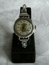 Large Ladies Silver Trench Style Swiss Watch Imported by Meyer & Studeli, 1922