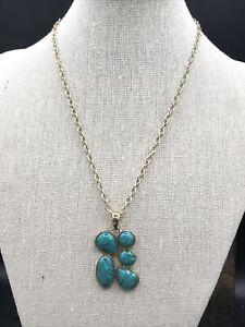 Barse Lizka Necklace- Turquoise & Bronze- NWT