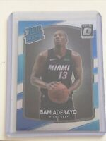 💎2017-18 Donruss Optic Holo Prizm Bam Adebayo 187 RC Rated Rookie PSA Ready