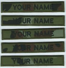 DPM Irish Defence Forces Camouflage X 5 Name Strips Ireland Military Insignia