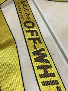 Off-White Inspired Tie Down Nylon Industrial Yellow Belt