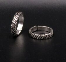 Indian Vintage Design Solid 925 Silver Toe Ring Band Tribal Ethnic Jewelry Ntr16