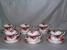 6 Royal Albert Old Country Roses Tea Cups & Saucers