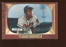 1955 Bowman Baseball Card #179 Hank Aaron Milwaukee Braves EX+